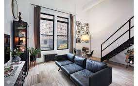 Level Furnished Living Chic Financial District Studio With A Sleeping Loft Asks 795 000