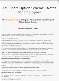 employees information sheet emi share option scheme notes for employees lawbite