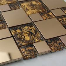glass tiles backsplash kitchen gold stainless steel backsplash for kitchen and bathroom metal and