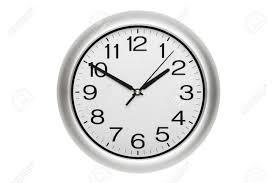 horloge de bureau grande horloge murale bureau montrant le temps isolé sur blanc