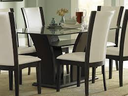 glass dining room table sets dining room brown leather dining chairs combined with big