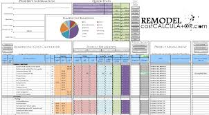 New Home Budget Spreadsheet by House Renovation Spreadsheet Template Template