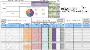 home improvement spreadsheet home renovation budget spreadsheet
