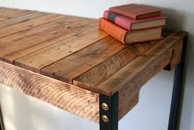 Diy Reclaimed Wood Desk Furniture Diy Reclaimed Wood Desk With Black Metal Legs For