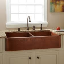 kitchen hammered copper farmhouse kitchen sinks room ideas