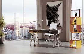White Modern Desk by Shop The Glamorous Johnson Modern Desk In Stainless Steel