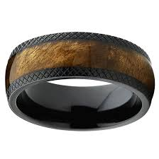 stargate wedding ring dome black titanium wedding band ring with real marble