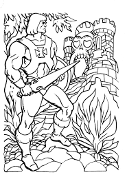 James Eatock Presents The He Man And She Ra Blog Coloring Book 80s Coloring Pages