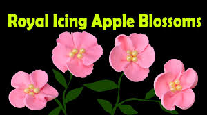 Easy Icing Flowers - how to make royal icing apple blossom flowers by cookies cupcakes