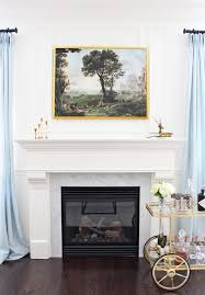 am dolce vita new art over fireplace
