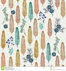 thanksgiving herbs seamless pattern with feathers and herbs with traditional american