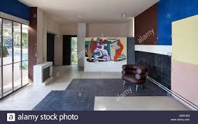 interior with eileen gray chair u0027bibendum u0027 and le corbusier mural