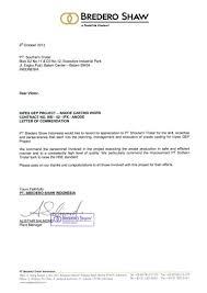 Letter Of Commendation 2 5 Letter Of Commendation 2013 Pt Southern Tristar