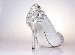 wedding shoes rhinestones high heel crystral closed toes rhinestone wedding shoes silver