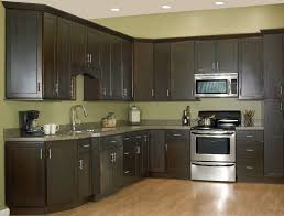 Espresso Kitchen Cabinets Espresso Kitchen Cabinets With Glass Doors Ideas