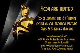 Hollywood Invitation Card Oscar Party Invitations Cloveranddot Com