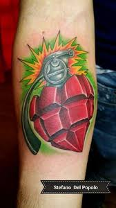 lit fuse a ticking time bomb tattoo time bomb heart tattoo