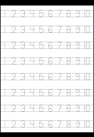 number tracing 1 10 worksheet printable worksheets pinterest