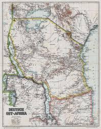 Map Of East Africa by Tanganyika Mandate