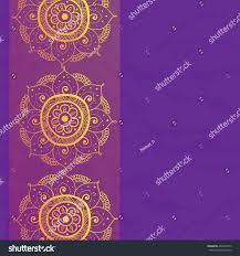 Diwali Invitation Cards Vintage Invitation Card On Grunge Purple Stock Vector 450233776
