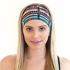hippie hair bands fashion women s wide headband stretch hairband elastic cotton hair