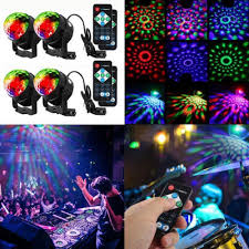 sound activated dj lights disco ball sound activated stage magic rotating lights led party dj