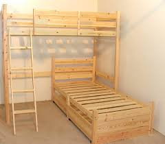 Bunk Beds L Shaped L Shaped 3ft Bunkbed With Two Sprung Mattresses Wooden Lshaped