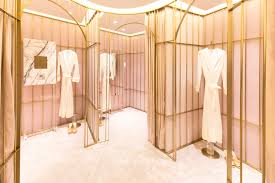 luxury fitting rooms at the la perla shanghai plaza 66 boutique