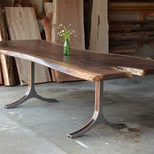 live edge table west elm raw wood dining table new glass wall shelves nobailout org in 4