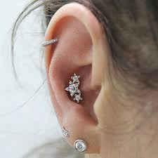 diamond helix stud diamond paisley left threaded stud helix helix jewelry