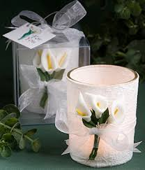 wedding favors unlimited calla design wrapped candle favors