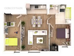 exellent two bedroom apartment floor plans 3d on inspiration