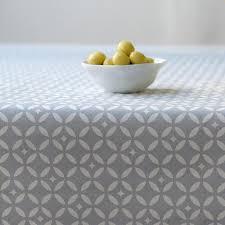 nappe en coton enduit nappe enduite grise mosaïque en coton par fleur de soleil