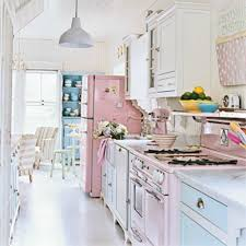 shabby chic kitchen with soft pink color scheme shabby chic