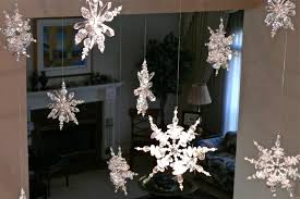 diy decorating falling snowflakes what about this