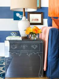 How To Make End Tables by How To Make Kid Friendly Chalkboard End Tables Hgtv