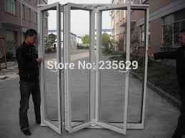 Folding Exterior Door Shop Aluminium Folding Door For Sale Glazing