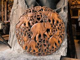 carved wood wall feng shui elephants carved wooden wall panel siam sawadee