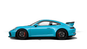 porsche blue gt3 create your dream 2018 porsche 911 gt3 with updated configurator