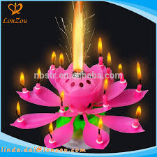 birthday candle birthday candles flaming flower rotating musical happy lotus