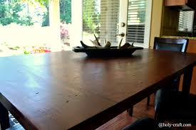 Dining Room Table Top Easy Diy Planked Table Top Cover For Your Existing Table
