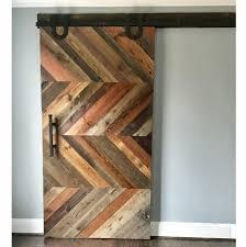 Wooden Barn Door by Driftwood Chevron Sideways Barn Door U2014 Laelee Designs