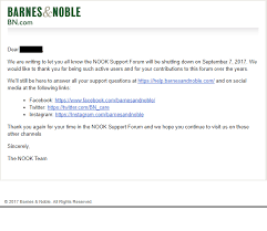 Barnes Adn Noble Barnes And Noble Shutting Down Nook Support Forums
