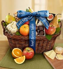 feel better soon gift basket get well fruit gift basket