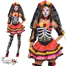 sugar skull costume day of the dead senorita skeleton mexican sugar skull fancy