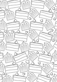 cake pattern coloring free printable coloring pages