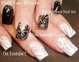 blackandwhite nails nailart nail art black white tutorial