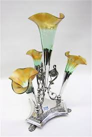 Antique Art Glass Vases 302 Best Epergne Images On Pinterest Vases Centerpieces And