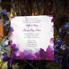 purple watercolor invitations