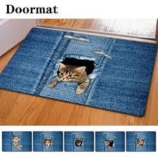 Kitchen Floor Mat Aliexpress Com Buy Fashion Kawaii Welcome Floor Mats Animal Cute